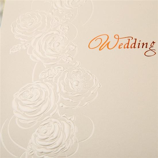Modern Tri-Fold Imprint Flower Invitation Cards (Set of 50)_6