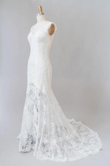 BMbridal Eye-catching Sweetheart Lace Mermaid Wedding Dress On Sale_4