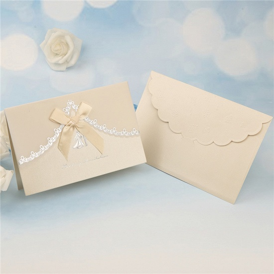 Modern Tri-Fold Bowknot Style Invitation Cards (Set of 50)_2
