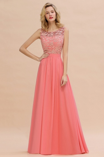 Exquisite Lace Scoop Sleeveless Bridesmaid Dress