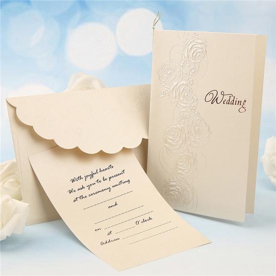 Modern Tri-Fold Imprint Flower Invitation Cards (Set of 50)_2
