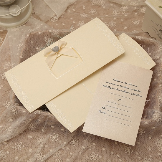 Classic Side-Fold Bowknot Style Invitation Cards (Set of 50)_8