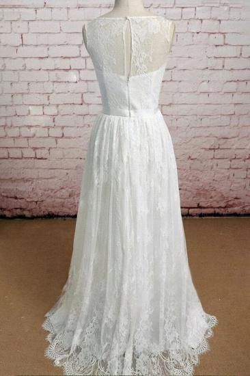 BMbridal Graceful Floor Length Lace A-line Wedding Dress Online_3