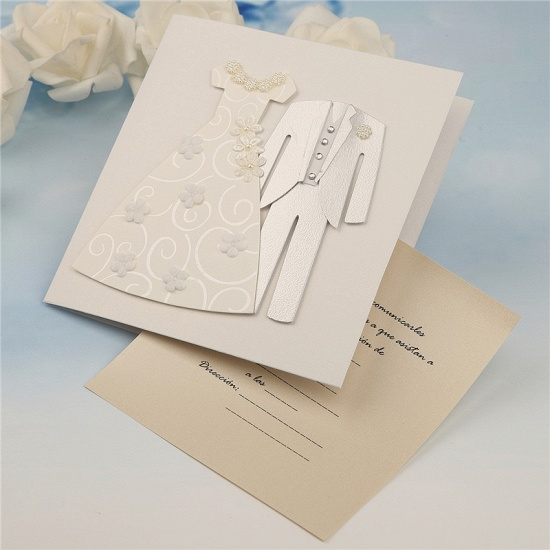 Popular Side-Fold Handmade Invitation Cards (Set of 50)_3