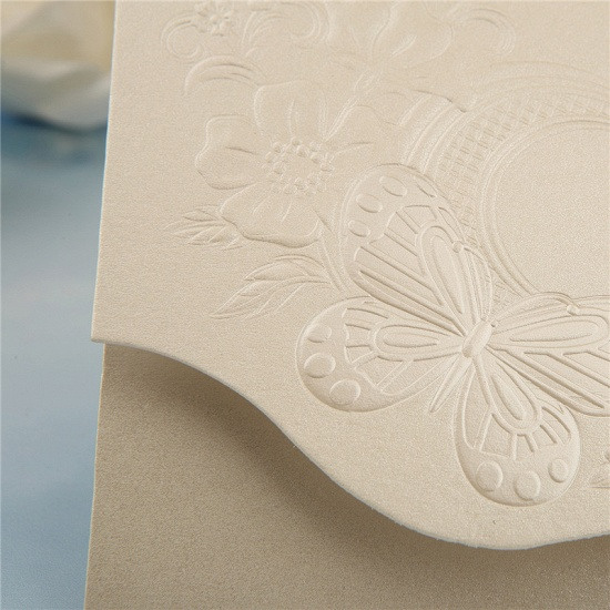 Classics Tri-Fold Butterfly Style Invitation Cards (Set of 50)_7