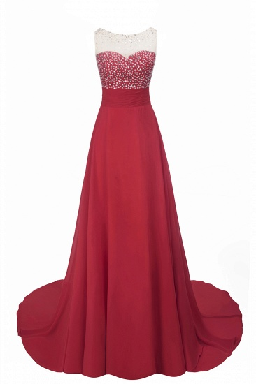 BMbridal Chic Jewel Chiffon Tulle Party Dress with Sequins_11