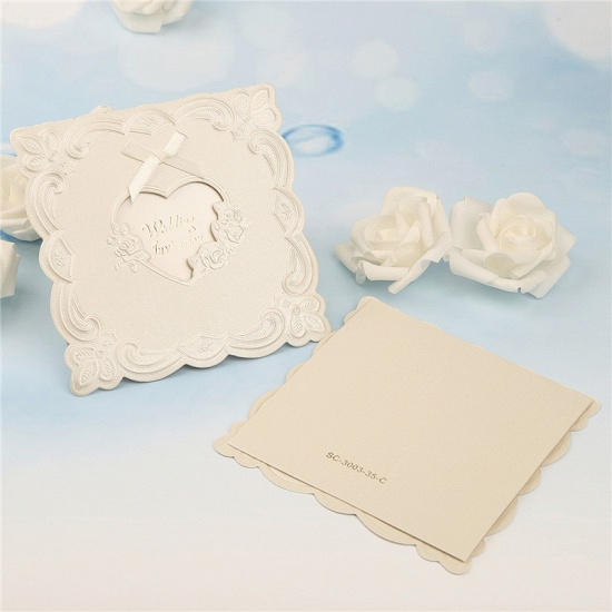 BMbridal Popular Tri-Fold Heart Style Bowknot Invitation Cards (Set of 50)_2