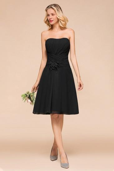 BMbridal Sweetheart Ruffle Short Black Bridesmaid Dress_9