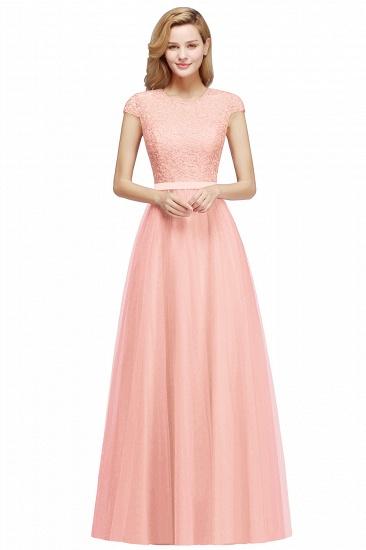 BMbridal A-line Jewel Tulle Lace Bridesmaid Dress_1
