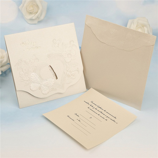 Classics Tri-Fold Butterfly Style Invitation Cards (Set of 50)_3