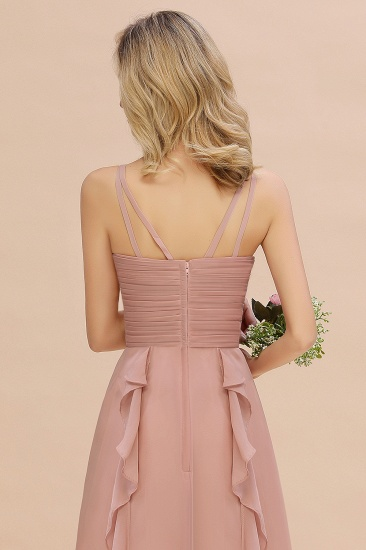 Chiffon Long Sleeveless Bridesmaid Dress with Cascading Ruffles_8