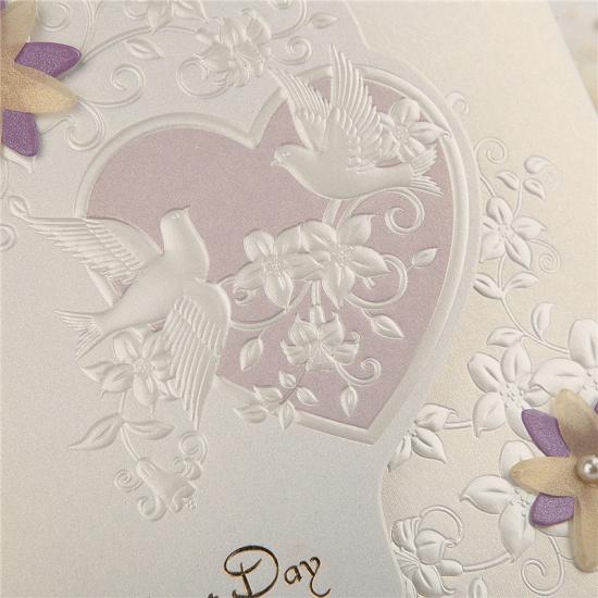 Classic Side-Fold Heart Imprint Invitation Cards (Set of 50)_4