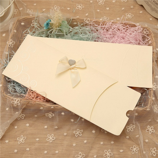 Classic Side-Fold Bowknot Style Invitation Cards (Set of 50)