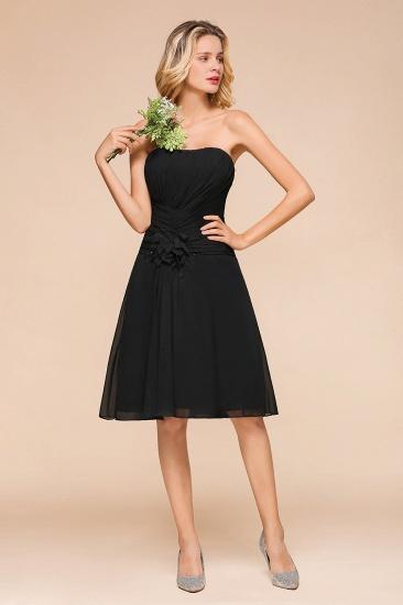 BMbridal Sweetheart Ruffle Short Black Bridesmaid Dress_5