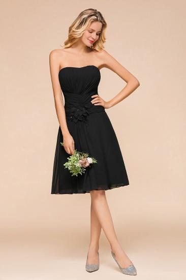 BMbridal Sweetheart Ruffle Short Black Bridesmaid Dress_4