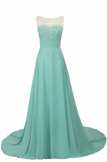 BMbridal Chic Jewel Chiffon Tulle Party Dress with Sequins_4