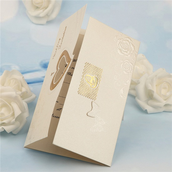 BMbridal Classic Tri-Fold Hollow Heart Style Invitation Cards (Set of 50)_7