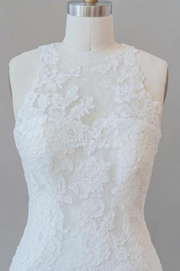 BMbridal Awesome Illusion Lace Mermaid Wedding Dress On Sale_6
