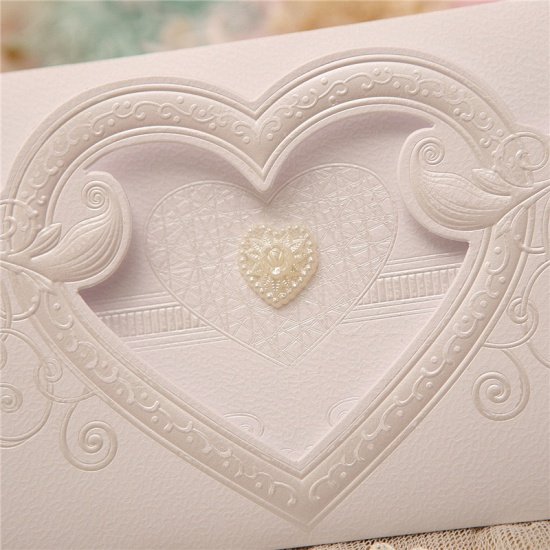 Classics Tri-Fold Hollow Heart Style Invitation Cards (Set of 50)_6
