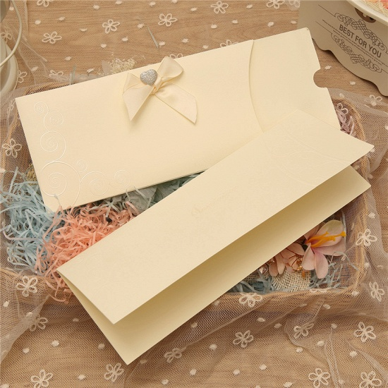 Classic Side-Fold Bowknot Style Invitation Cards (Set of 50)_2