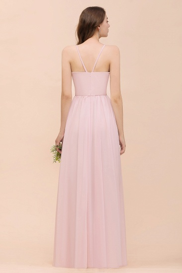 BMbridal Gorgeous Chiffon Halter Ruffle Affordable Long Bridesmaid Dress_52