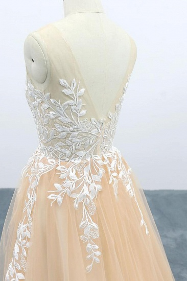 BMbridal Graceful Appliques Tulle A-line Wedding Dress On Sale_6