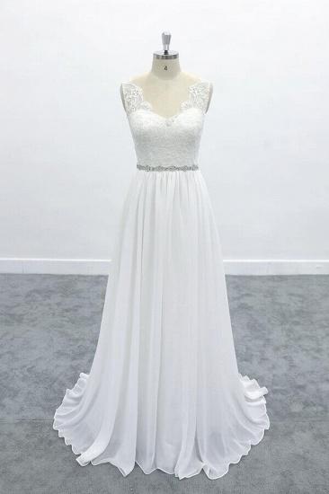 BMbridal Awesome V-neck A-line Lace Chiffon Wedding Dress On Sale_1