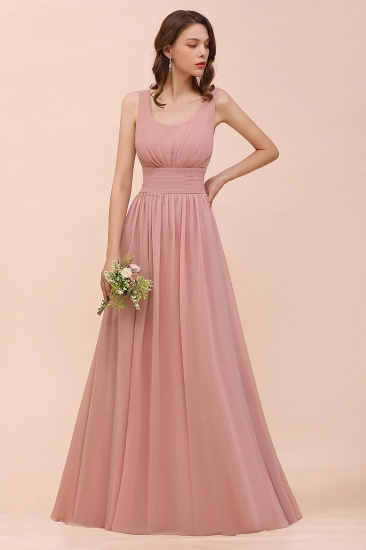 Affordable Sleeveless Ruffle Vintage Mauve Bridesmaid Dress_7