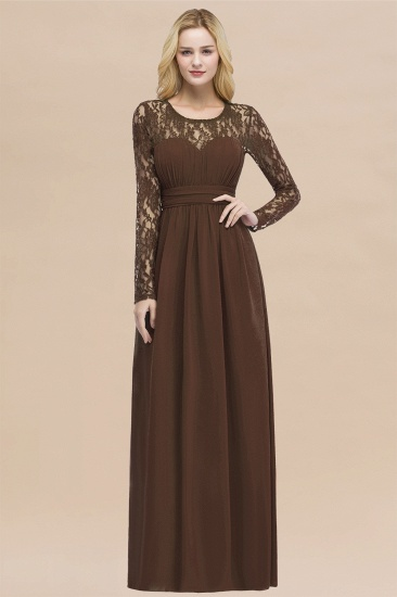BMbridal Elegant Lace Burgundy Bridesmaid Dresses Online with Long Sleeves_12