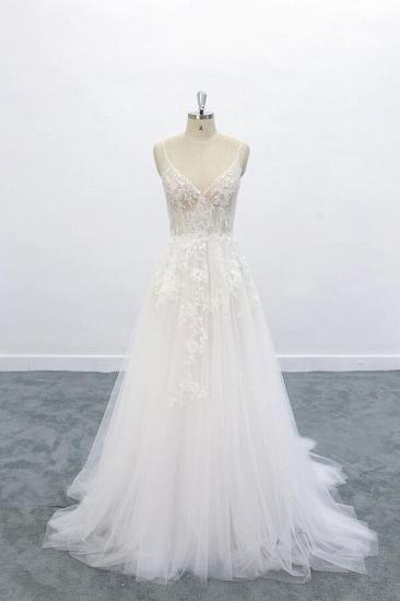 BMbridal Graceful Appliques Tulle A-line Wedding Dress On Sale_1