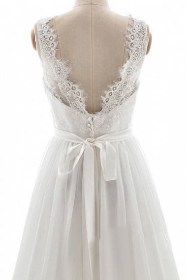 BMbridal Affordable V-neck Lace Chiffon A-line Wedding Dress On Sale_6