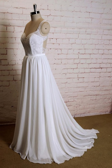 BMbridal Sweetheart Lace Chiffon A-line Wedding Dress On Sale_4