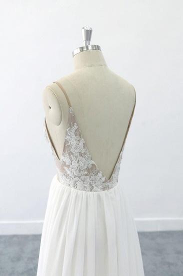 BMbridal Graceful V-neck Lace Chiffon A-line Wedding Dress On Sale_7
