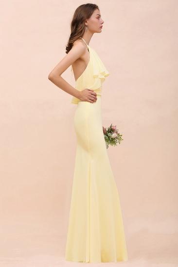 BMbridal Gorgeous Daffodil Mermaid Halter Ruffle Bridesmaid Dress_7