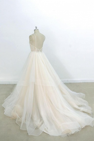 BMbridal Eye-catching Appliques Tulle A-line Wedding Dress On Sale_3