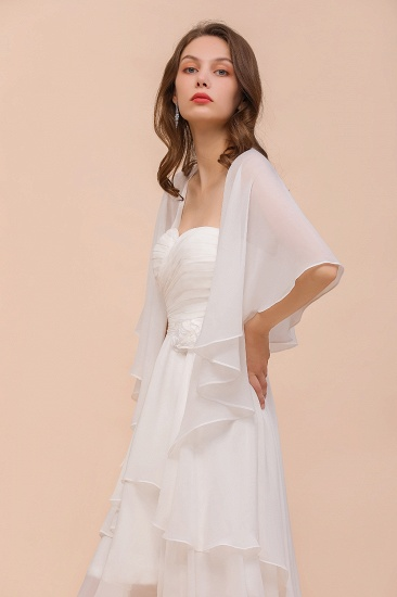 White Chiffon Special Occasions Wraps_5