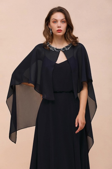 BMbridal Dark Navy Chiffon Special Occasions Wrap_6