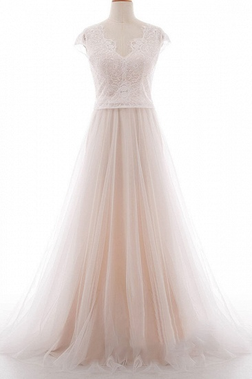 BMbridal Graceful V-neck Lace Tulle A-line Wedding Dress On Sale