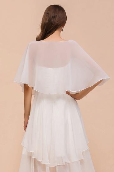 White Chiffon Jewel Special Occasions Wraps_3