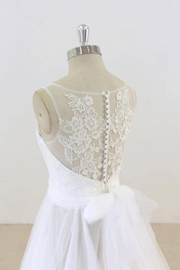 BMbridal Graceful Illusion Lace Tulle A-line Wedding Dress On Sale_6