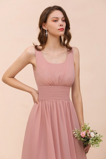 Affordable Sleeveless Ruffle Vintage Mauve Bridesmaid Dress_9
