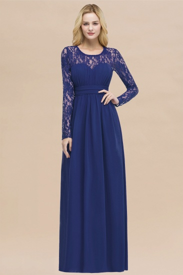 BMbridal Elegant Lace Burgundy Bridesmaid Dresses Online with Long Sleeves_26