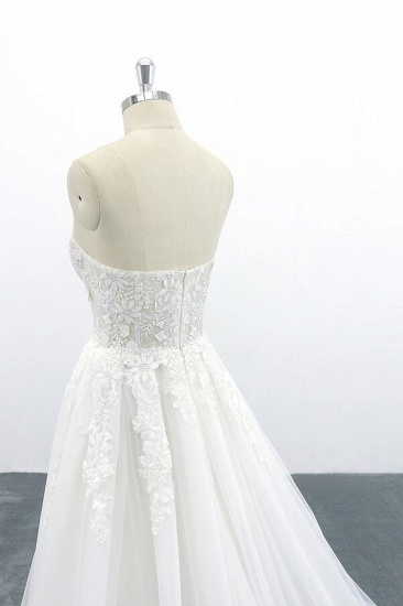 BMbridal Appliques Strapless Tulle A-line Wedding Dress On Sale_8