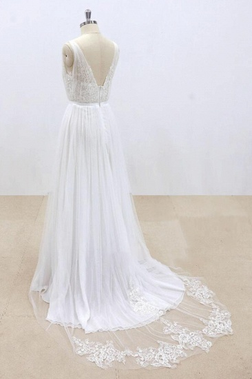 BMbridal Amazing Ruffle Tulle Appliques A-line Wedding Dress On Sale_5