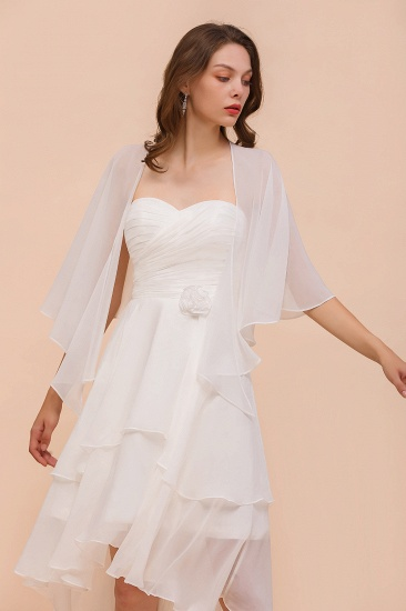 White Chiffon Special Occasions Wraps_6
