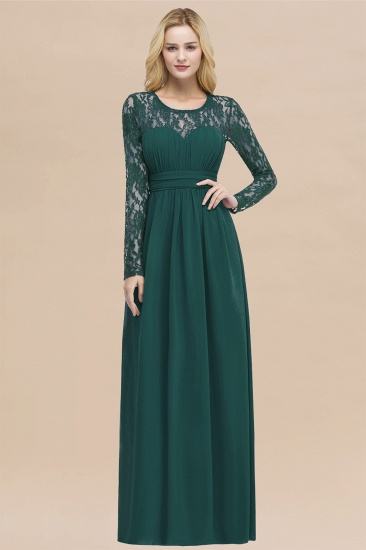 BMbridal Elegant Lace Burgundy Bridesmaid Dresses Online with Long Sleeves_33