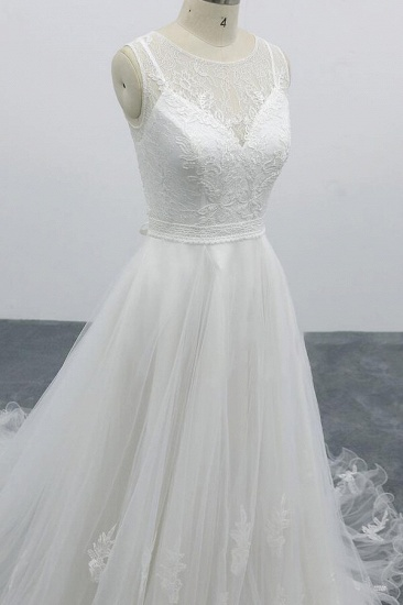 BMbridal Graceful Appliques Tulle A-line Wedding Dress On Sale_8