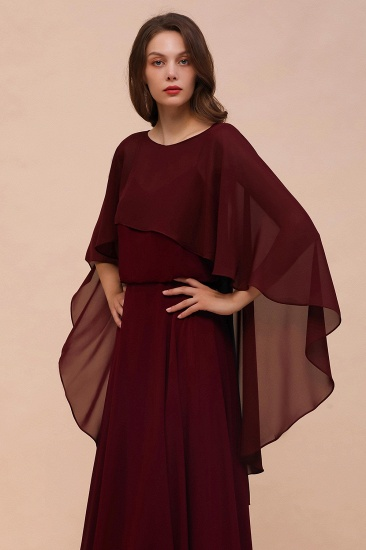 Burgundy Chiffon Special Occasions Wrap_4