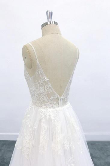 BMbridal Graceful Appliques Tulle A-line Wedding Dress On Sale_7