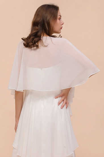 White Chiffon Special Occasions Wraps_3
